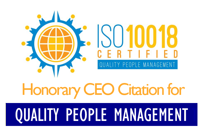 Honorary CEO Citation for Quality People Management
